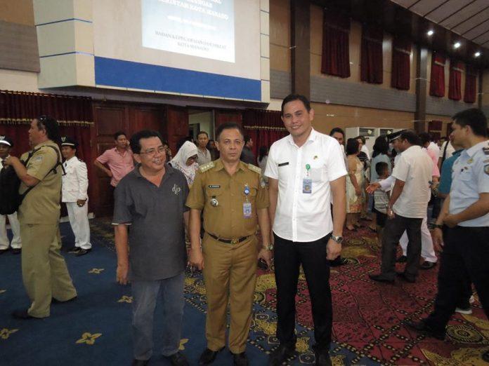 Sekcam bersama Camat Bunaken