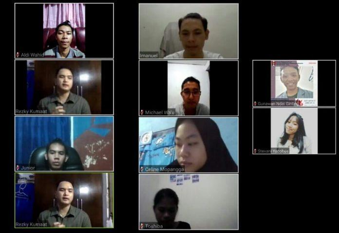diskusi online pers mahasiswa politeknik manado