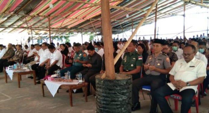 doa bersama masyarakat talaud cegah corona