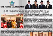 paripurna istimewa dprd sulut dalam rangka hut provinsi ke 56